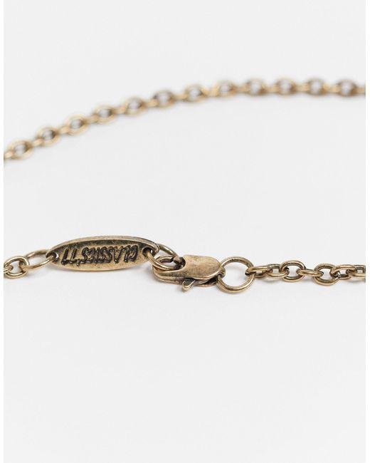 Золотистое Ожерелье С Подвеской В Виде Полумесяца -золотистый Classics 77 для него, цвет: Metallic