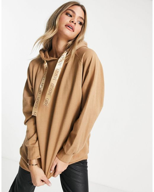 Missguided Natural Oversized Hoodie