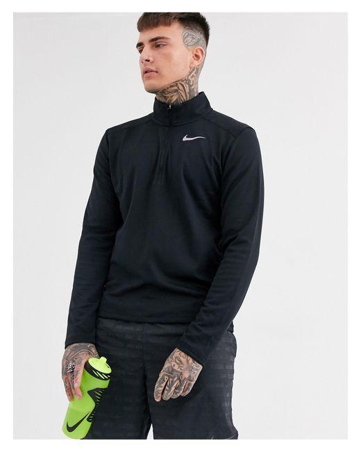 Черный Свитшот С Короткой Молнией Pacer-черный Цвет Nike для него, цвет: Black