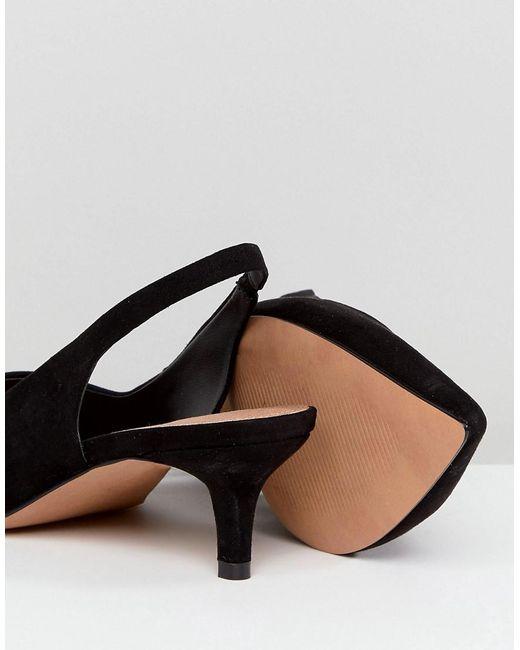 SPIRIT Wide Fit Slingback Kitten Heels - Black Asos 7vZZWw