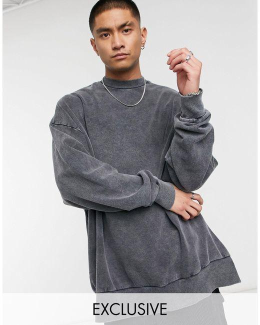 Темно-серый Свитшот С Эффектом Потертости Inspired Reclaimed (vintage) для него, цвет: Gray