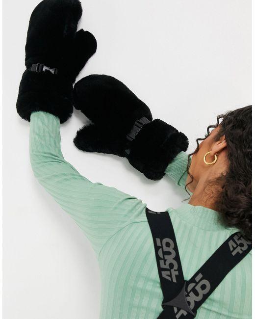 Варежки Из Искусственного Меха Ski-черный ASOS 4505, цвет: Black