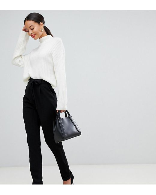 ASOS - Black Asos Design Tall Woven Peg Pants With Obi Tie - Lyst