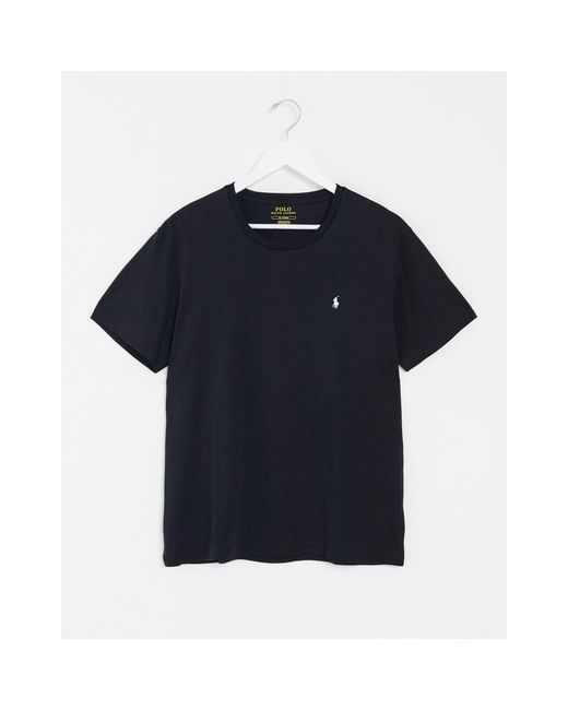 Черная Футболка Для Дома С Логотипом -черный Цвет Polo Ralph Lauren для него, цвет: Blue