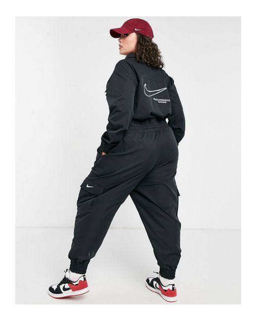 Черный Комбинезон В Утилитарном Стиле С Логотипом-галочкой Plus-черный Цвет Nike, цвет: Black
