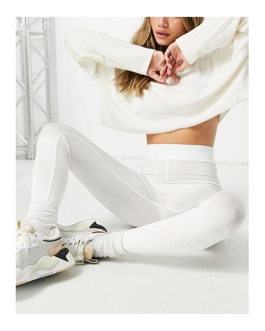 Блестящие Леггинсы Цвета Слоновой Кости От Комплекта -белый Missguided, цвет: White