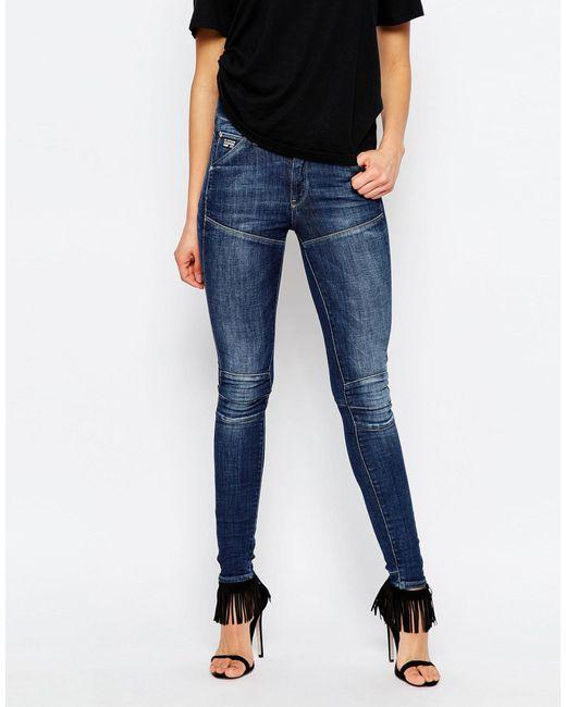 G-Star RAW   Blue Elwood 5620 Ultra High Super Skinny Jeans   Lyst