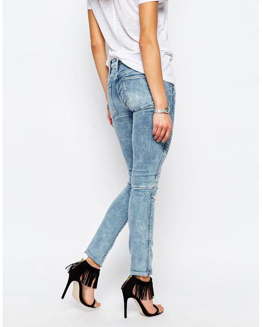 g star raw elwood 5620 mid rise skinny jeans in blue. Black Bedroom Furniture Sets. Home Design Ideas