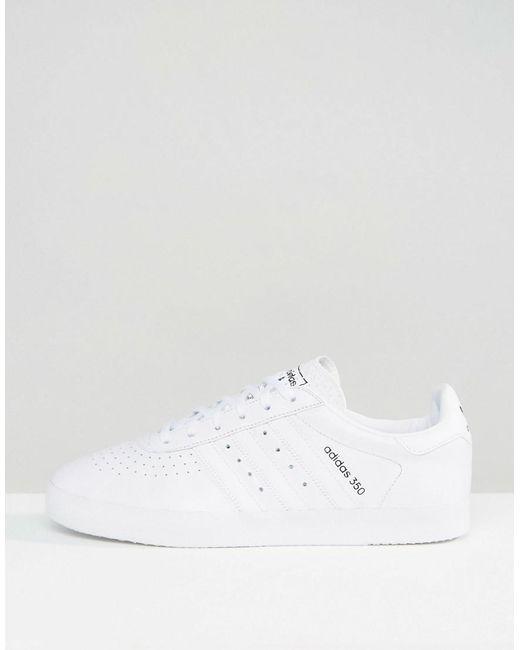 Adidas originali 350 formatori in bianco bb2781 in bianco per gli uomini lyst
