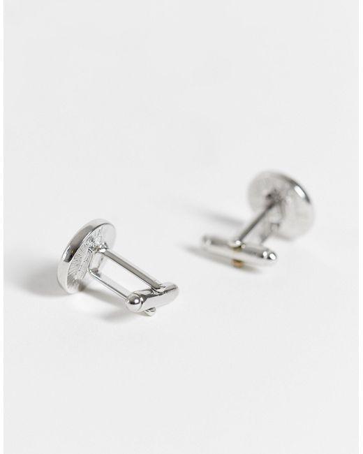 Набор Из Запонок С Эмалью И Зажима Для Галстука Burton-серебристый Burton для него, цвет: Metallic