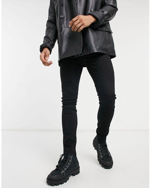 Черные Супероблегающие Джинсы Inspired-черный Цвет Reclaimed (vintage) для него, цвет: Black