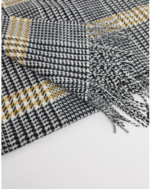 Черно-белый Шарф С Узором «гусиная Лапка» -черный Burton для него, цвет: Multicolor