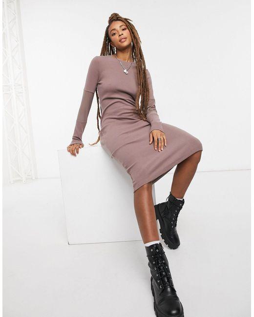 Vestito con longuette di ASOS in Brown