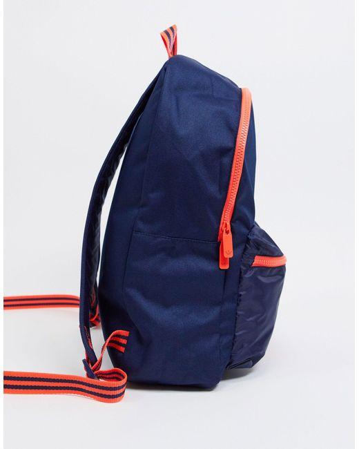 Темно-синий Рюкзак С Логотипом-трилистником -черный Adidas Originals для него, цвет: Black