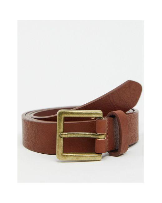 Светло-коричневый Ремень -коричневый Цвет Topman для него, цвет: Brown