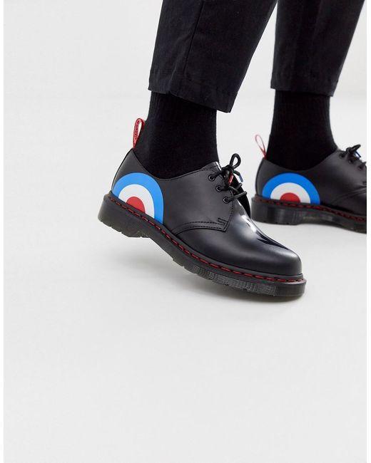 Туфли С 3 Парами Люверсов И Принтом Мишени X The Who 1461 Dr. Martens для него, цвет: Multicolor