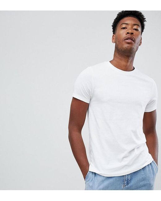 f74f3ddaaa54 ASOS - Tall Organic T-shirt With Crew Neck In White for Men - Lyst ...