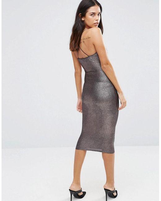 AX Paris | Metallic Midi Cami Dress | Lyst