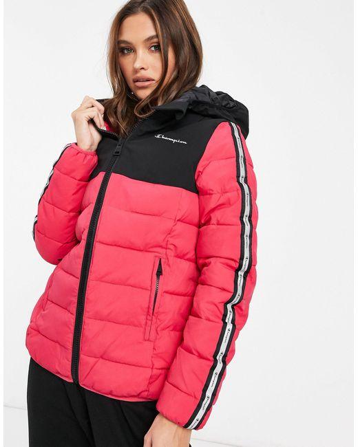 Розовая Дутая Куртка-пуховик -розовый Champion, цвет: Pink