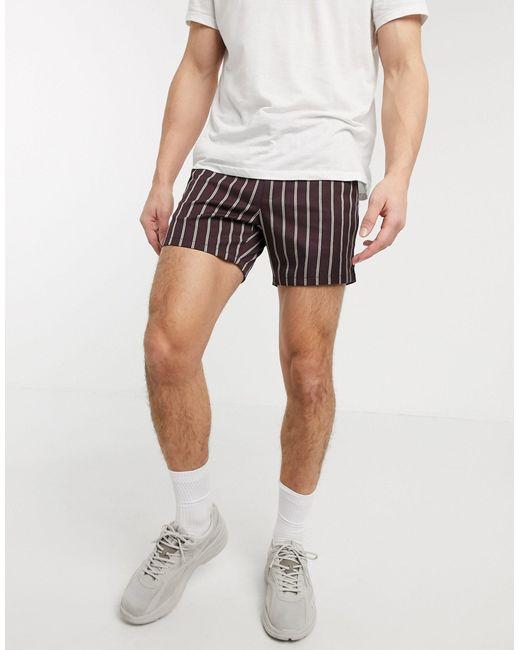 ASOS Red Slim Shorter Shorts for men