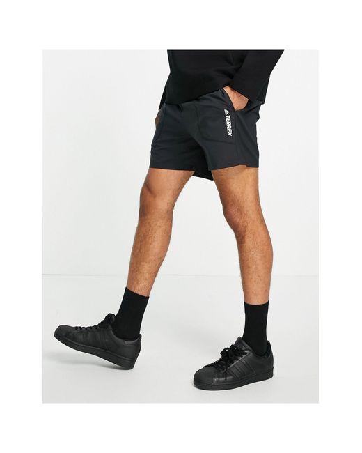 Черные Шорты Adidas Outdoors Terrex-черный Adidas Originals для него, цвет: Black