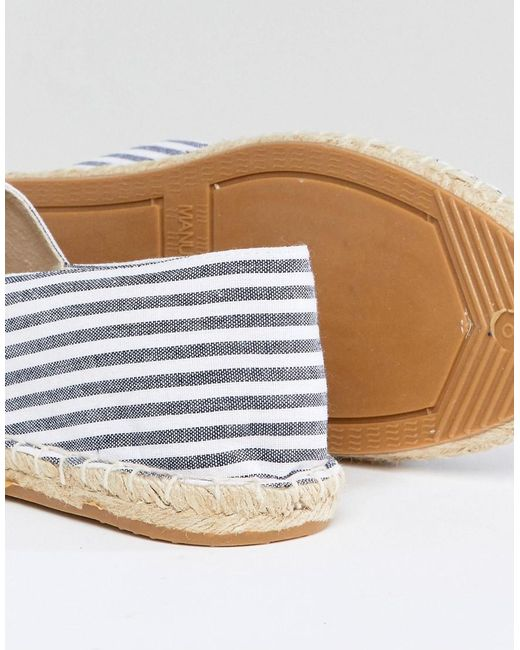 footlocker pictures outlet for sale ASOS Canvas Espadrilles in Navy and Blue Stripe 2 Pack SAVE cheap low price g9aXAQKYH
