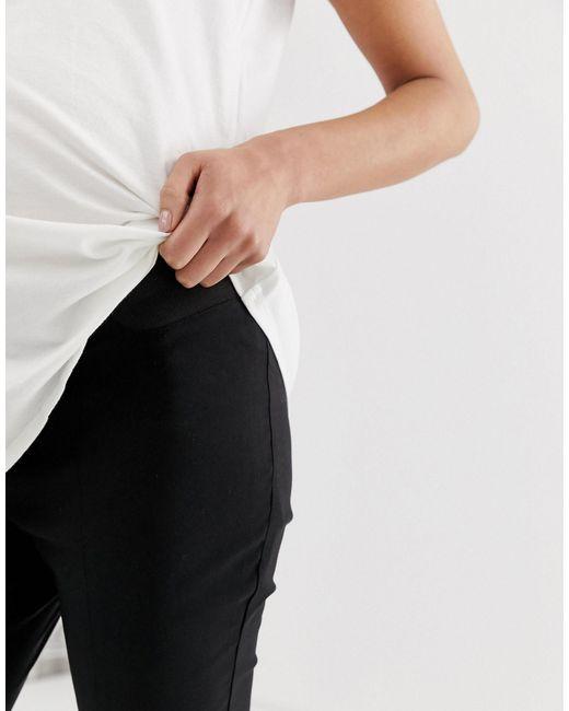 ASOS Black Asos Design Maternity High Waist Trousers