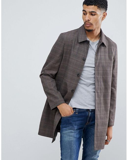 New Look - Mac In Light Brown Check for Men - Lyst