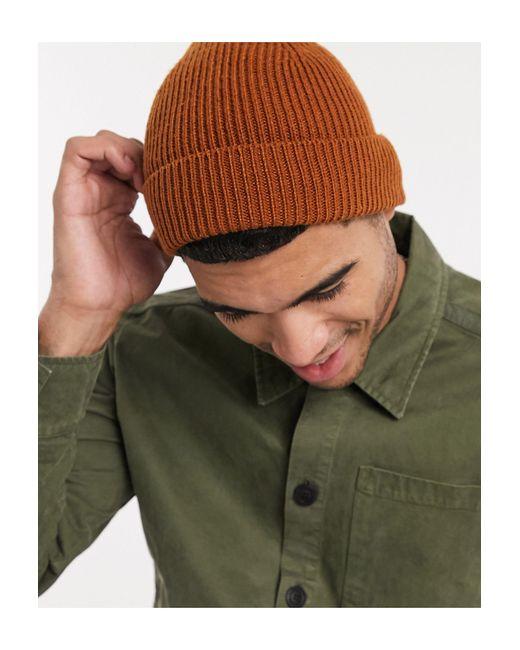 Шапка-бини Табачного Цвета ASOS для него, цвет: Brown