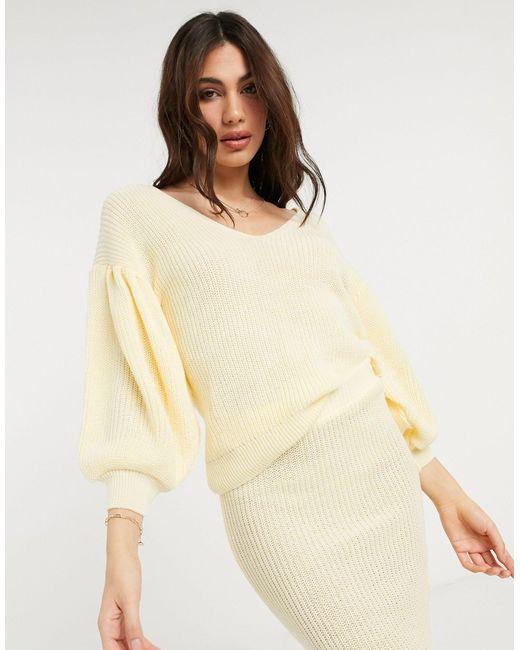 Jersey con cuello ASOS de color Yellow