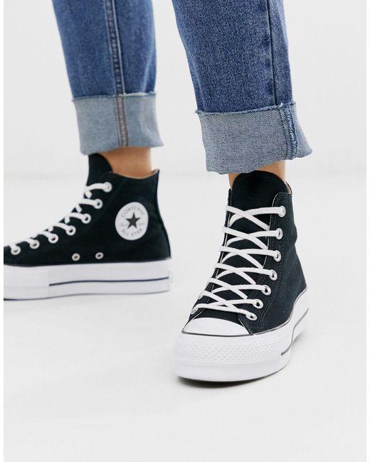 Черные Высокие Кеды На Платформе Chuck Taylor-черный Converse, цвет: Black