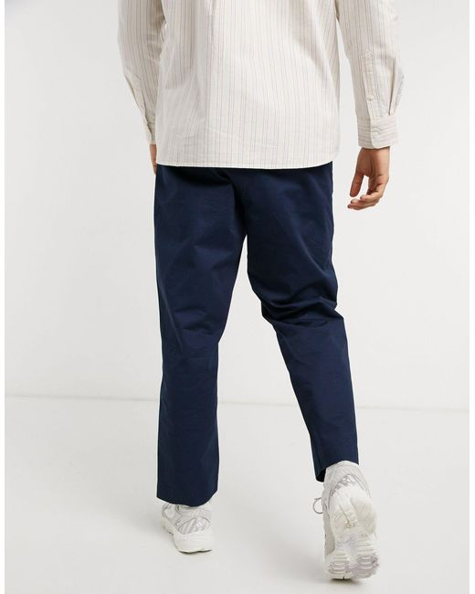 Weekday Madison - Pantalon en sergé - Bleu marine homme fWWqr