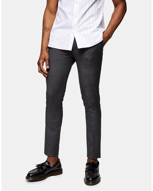 Topman Gray Considered Super Skinny Pants for men