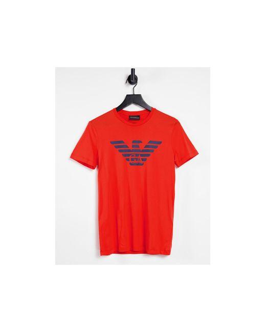 Красная Футболка С Логотипом В Виде Орла На Груди -красный Emporio Armani для него, цвет: Red