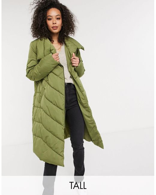 Y.A.S Black Y.a.s. Tall Salina Large Collar Long Padded Jacket