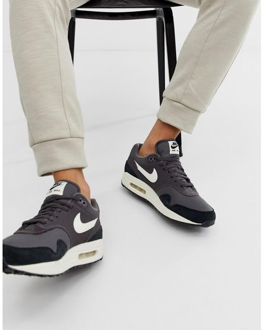 Nike Suede Air Max 1 Trainers In Navy in Blue for Men Save