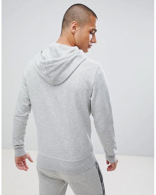 86b30952 ... Tommy Hilfiger - Gray Authentic Full Zip Hoodie Side Logo Taping In Grey  Marl for Men