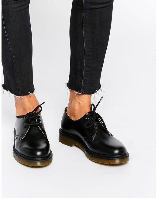 Dr. Martens 1461 Classic - Platte Schoenen In Zwart in het Black
