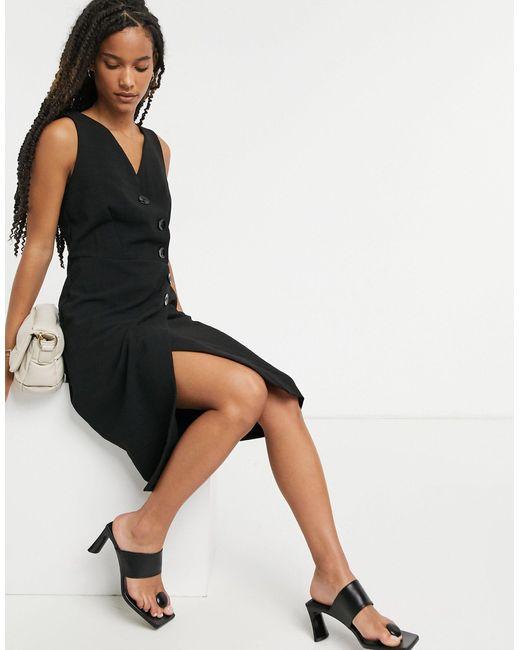 Closet Black Closet Wrap Pinafore Dress