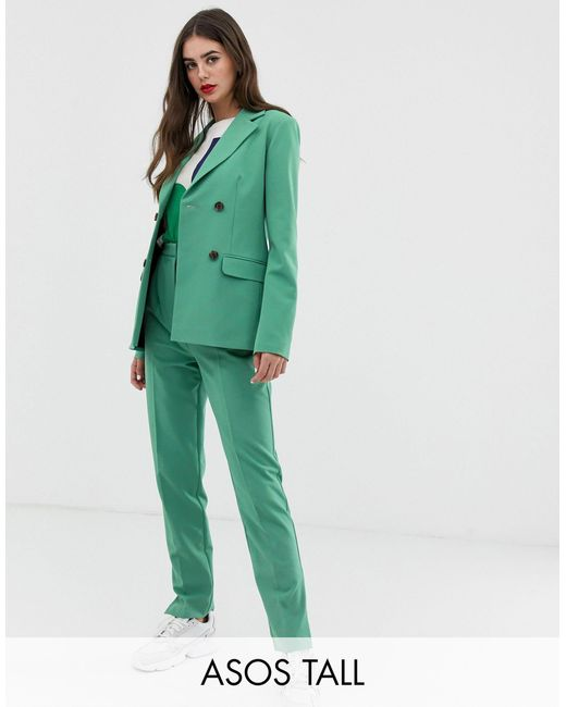 ASOS Green Asos Design Tall Slim Suit Trousers