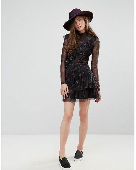 Gestuz - Black Mesha Print Tutu Skirt - Lyst