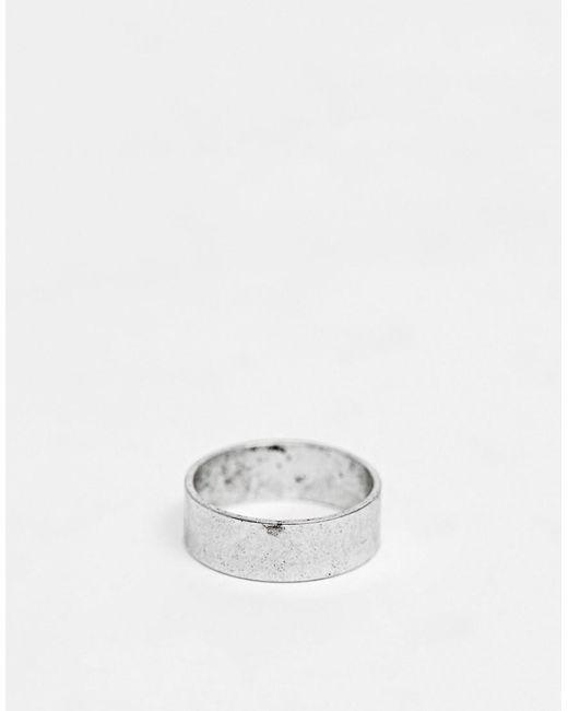 ASOS Ring in Silber poliert in Metallic für Herren