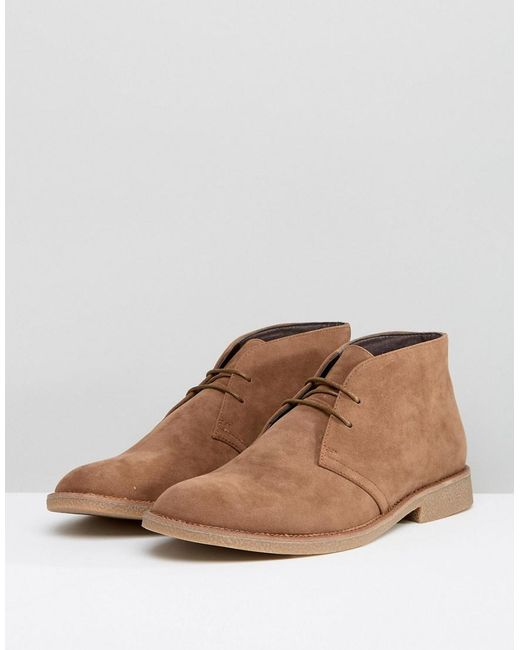 Outlet Low Shipping Fee Faux Suede Desert Boots In Tan - Stone New Look Buy Cheap Purchase HrRv7OJB