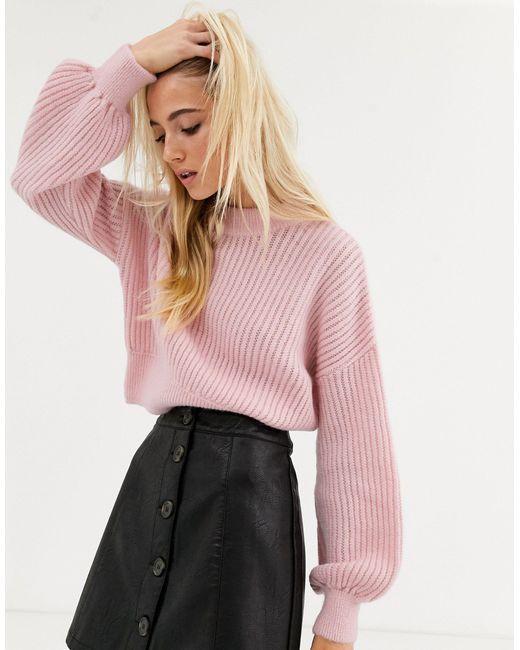 Розовый Джемпер С Круглым Вырезом TOPSHOP, цвет: Pink