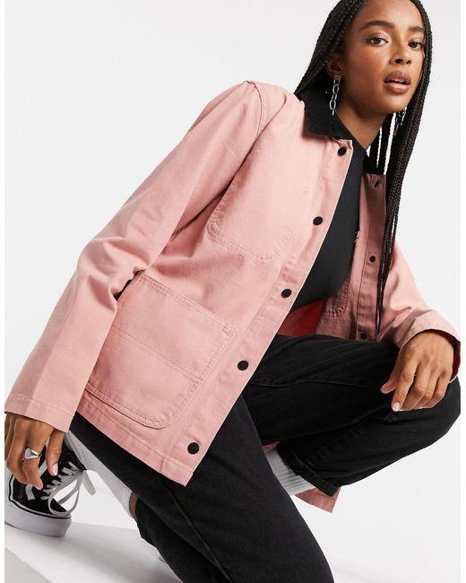 Розовая Куртка Drill Chore-розовый Vans, цвет: Pink