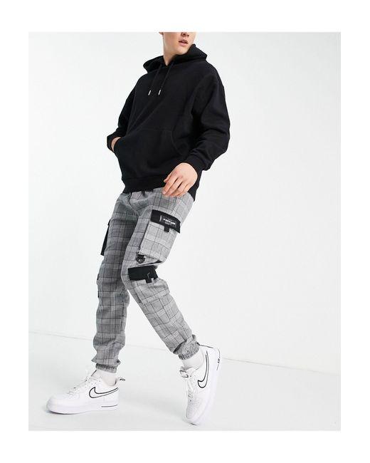 Pantalones cargo grises Wales Sixth June de hombre de color Gray