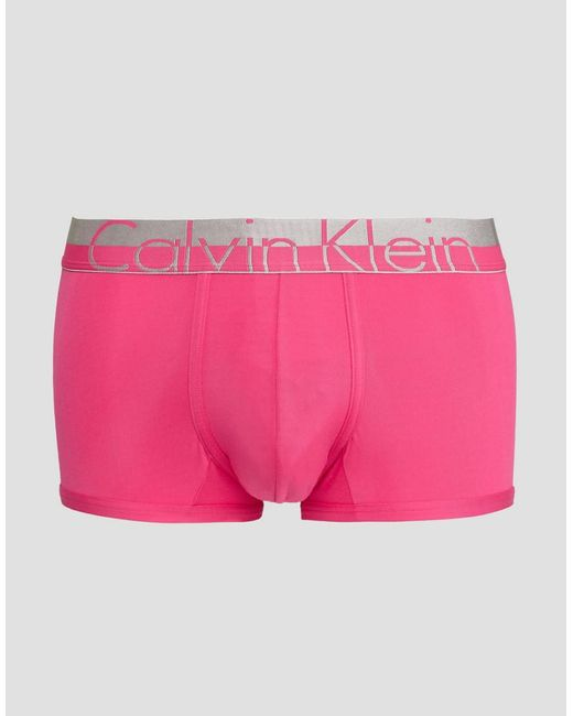 Calvin Klein   Pink Low Rise Trunks Magnetic Microfibre for Men   Lyst