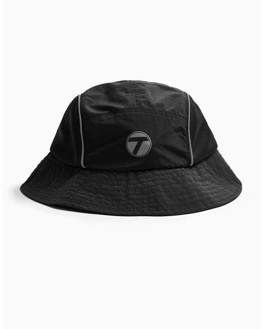Черная Панама Со Светоотражающими Элементами -черный Цвет Topman для него, цвет: Black
