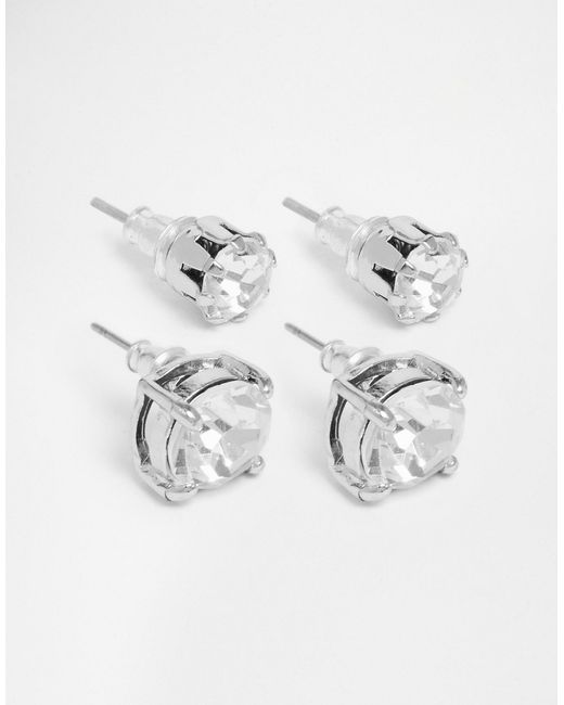 ASOS | Metallic Crystal Stud Earring Pack for Men | Lyst