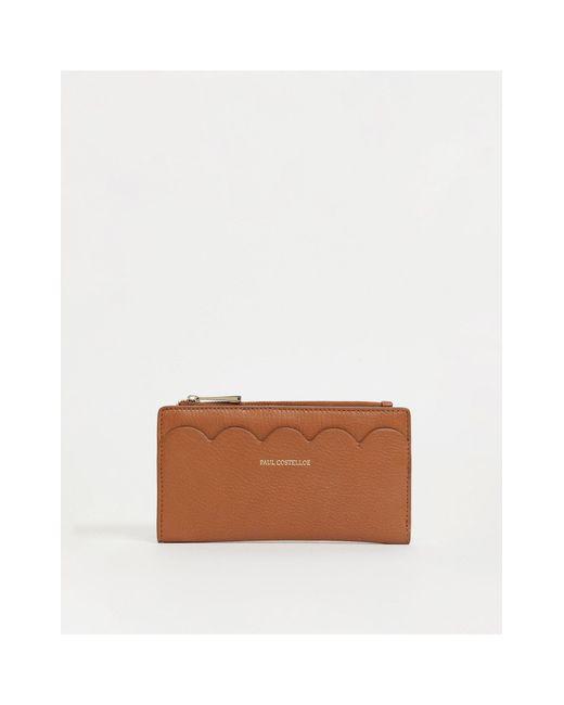 Светло-коричневый Кожаный Кошелек С Фигурным Краем -коричневый Цвет Paul Costelloe, цвет: Brown